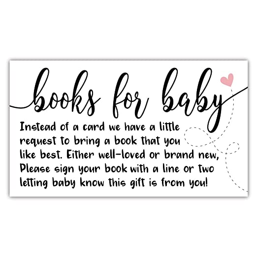Amazon Com 50 Sweet Heart Books For Baby Shower Request Cards