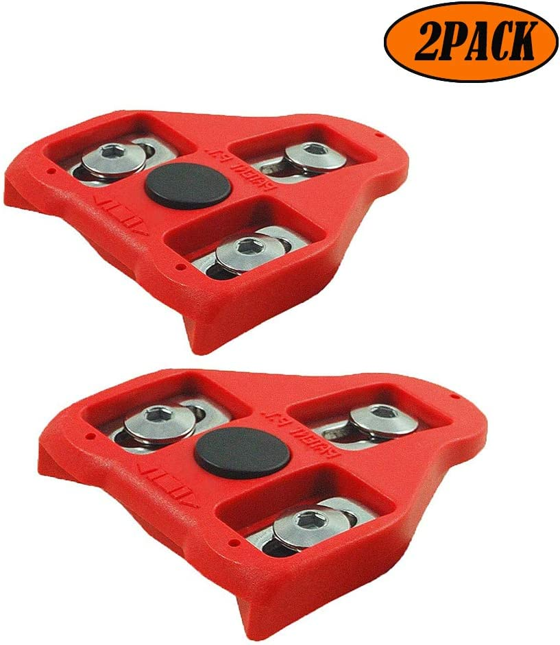 Indoor Cycling /& Road Bike Bicycle Cleat Set JCTC Bicycle Cleat Set for Peloton Indoor Cycling Bike Cleats Compatible with Look Delta Pedals 9 Degree Float