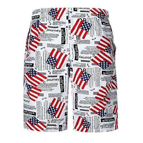 Nacional Bandera Playa Pantalones Sueltos Pantalones Bandera de Pantalones Bandera Impresa Casuales twW8Zvq