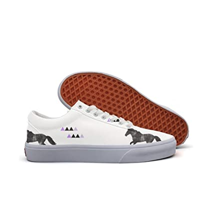 womens Skateboarding Shoes Canvas horses running Sport Sneaker