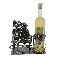 Flaschenhalter LIEBESPAAR Hochzeit Geschenk Weinflaschenhalter Weinständer Wein