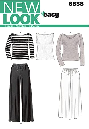 Amazon.com: New Look Sewing Pattern 6838 Misses Separates, Size A ...