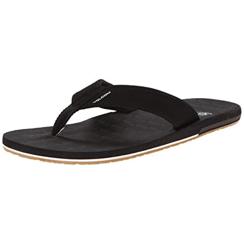 Volcom Men's Victor Flip Flop,Black,9 M US