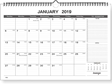 2020 Wall Month to view Planner Calendar Organiser