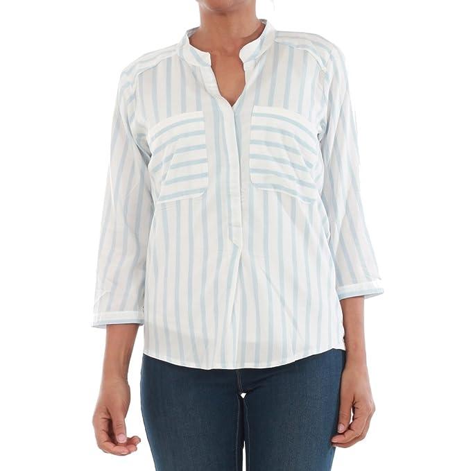 Vero Moda Camisa Mujer XS Azul 10168581 VMERIKA Stripe 3/4 Shirt E10 Noos Snow
