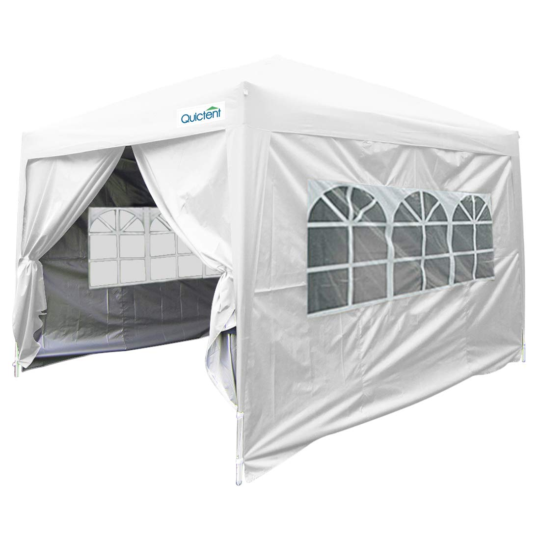 Quictent Privacy 10x20 EZ Pop Up Canopy Tent Party Tent Outdoor Event Gazebo Waterproof with 6 Sides /& Roller Bag White