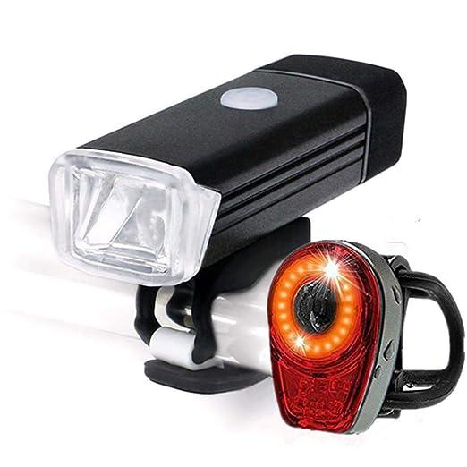 myonly - Juego de Luces LED para Bicicleta (Carga USB, luz Trasera ...