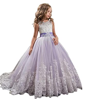 cd7564e2db68 SIXIANG New Children s Clothes in Europe and America Lace Wedding Dress  Tailed Tuxedo Gauze Princess Bubble