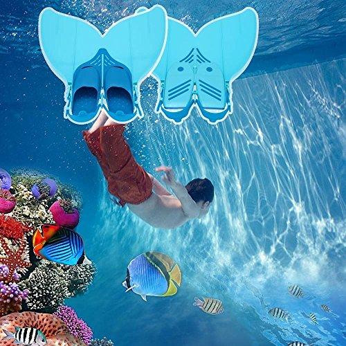 Docooler Teen Teenager Mermaid Swim Fin Tauchen Monoflosse Schwimmen Fuß Flipper(Fits Schuhgrössen 35-38 EU b4EBB4xL