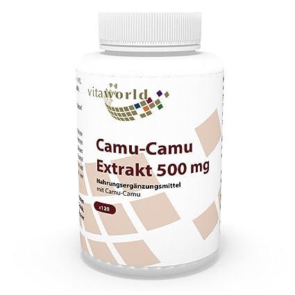 Camu Camu 500mg 120 Cápsulas Vita World Farmacia Alemania Vitaminas C y B - Myrciaria Dubia