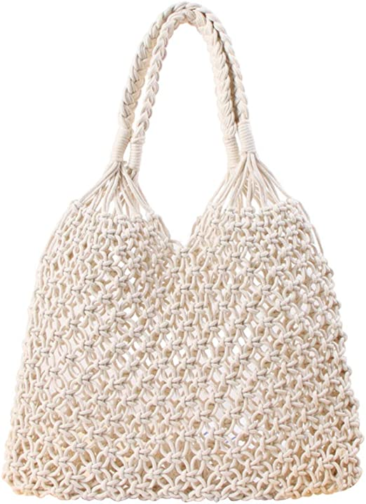 MoGist - Bolsa de paja de un solo color, bolso tejido, hecha a ...