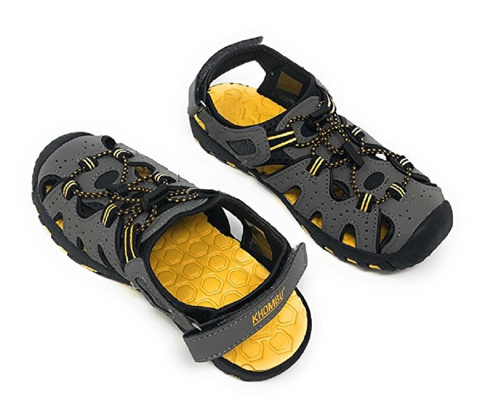 Khombu Kids Athletic Boys Grey Active Sandals (3)