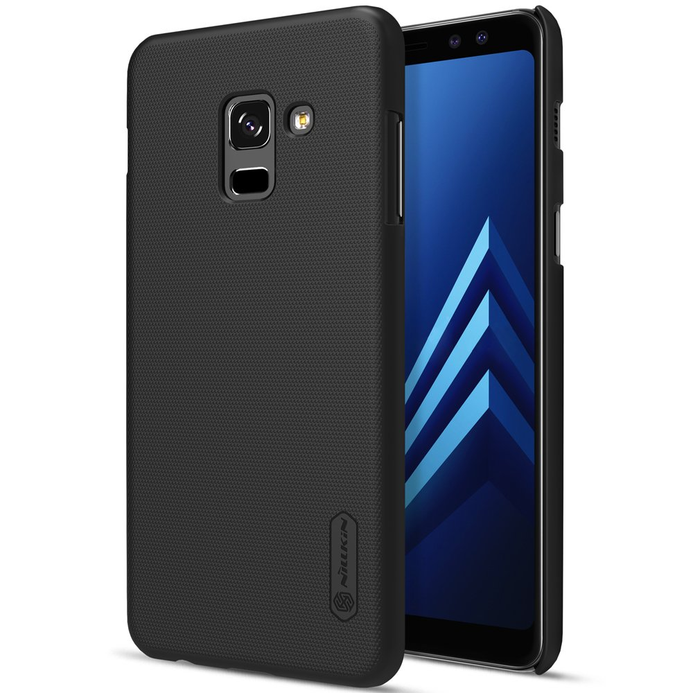 cheaper e1e80 8e186 Nillkin Super Frosted Shield Hard Back Cover Case for Samsung Galaxy A8  plus (2018) (Black)