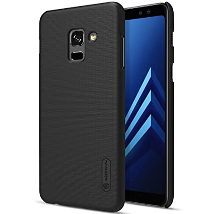 cheaper ab1fc b57a8 Nillkin Super Frosted Shield Hard Back Cover Case for Samsung Galaxy A8  plus (2018) (Black)