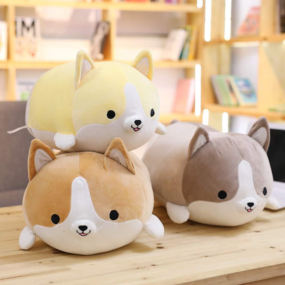 HUIDE Dog Plush Pillow Cute Corgi Akita Animali Imbottiti Doll Toy Gift s per San Valentino Sofa Chair Natale