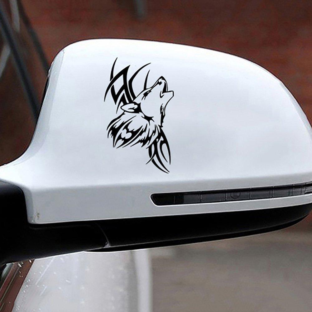 HUAIX home Tattoo /étanche Wolf voiture style autocollants v/éhicule moto corps d/écalque d/écor pour ordinateur portable planche /à roulettes snowboard bagages valise MacBook voiture bicyclette pare-chocs