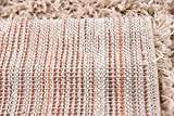 Unique Loom Solid Shag Collection Taupe 2 x 3 Area