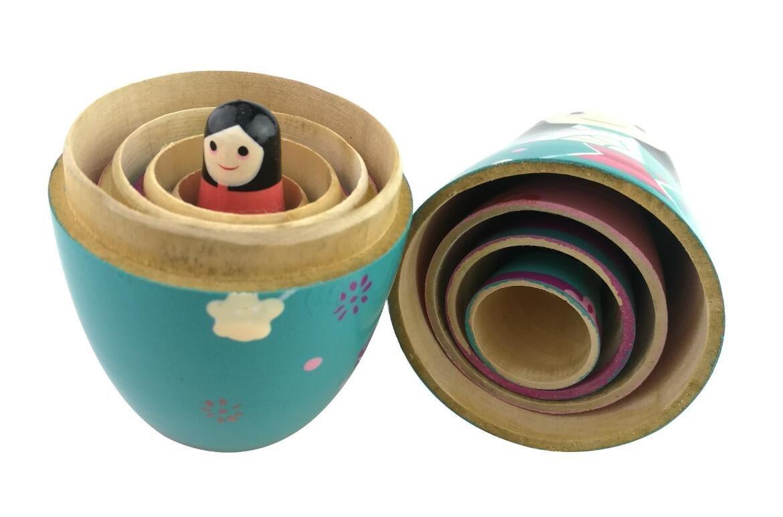 d/écoration poup/ées embo/îtables cadeau Lot de 5/adorable poup/ées japonaises Kokeshi Kimono