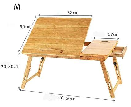 Haol Escritorio Plegable De Bambú del Ordenador Portátil Que Sirve La Bandeja De La Cama Cuadro