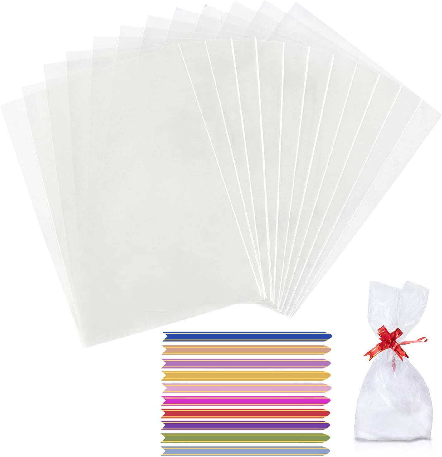 Clear Self Seal Cello Display Bags Cellophane Bag for Cards Sweet Candy /& Gift