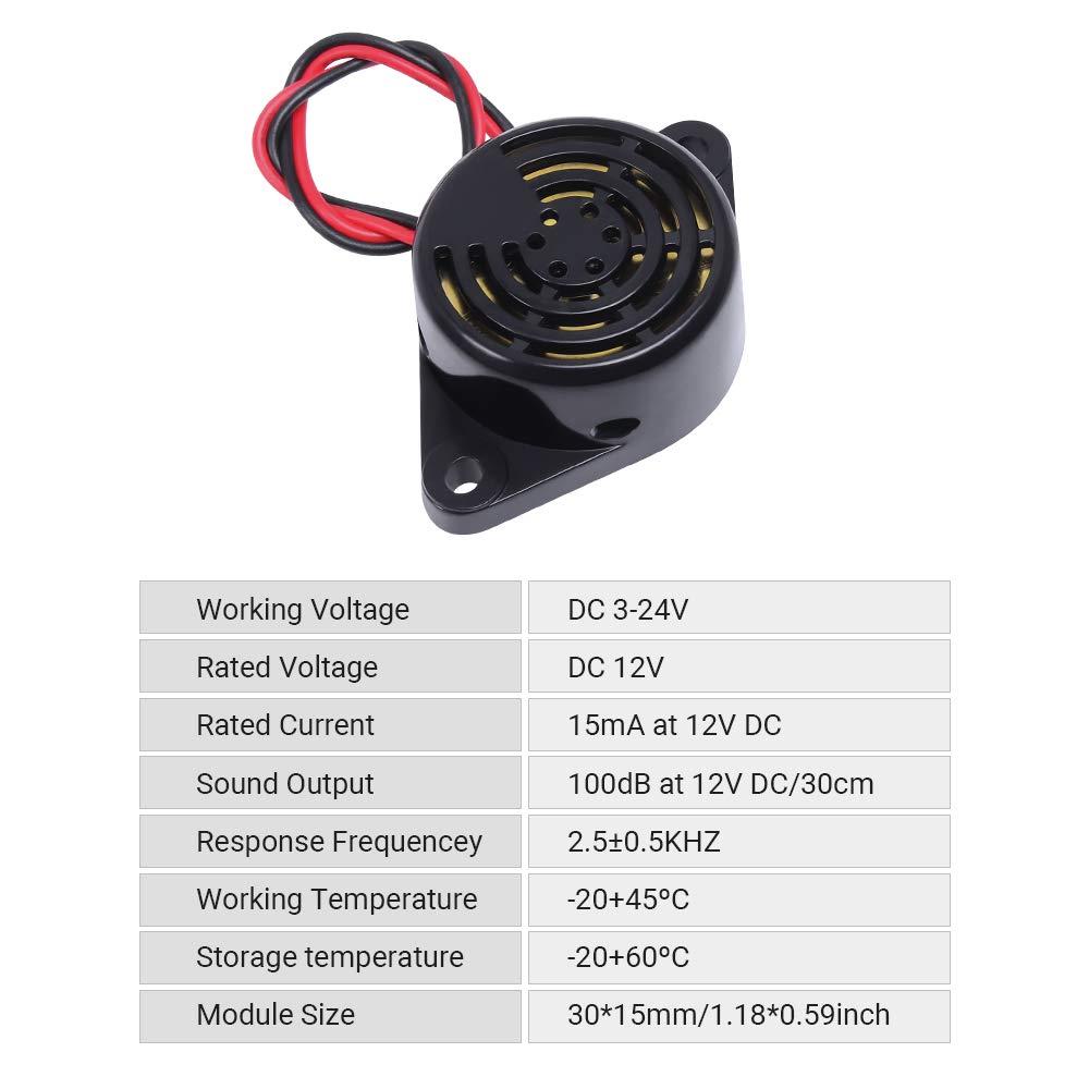 zumbador 14 ma continuo Transductor 3 V 20 V indicador de audio 85 DB piezo