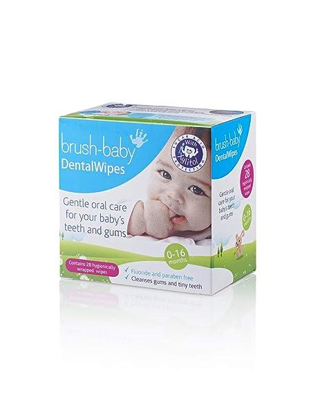 Brush-Baby - toallitas dentales para bebé 28s