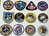 NASA Apollo Mission Patches for Apollo 1, 7, 8, 9, 10, 11, 12, 13, 14, 15, 16 & 17 – Made in the USA!