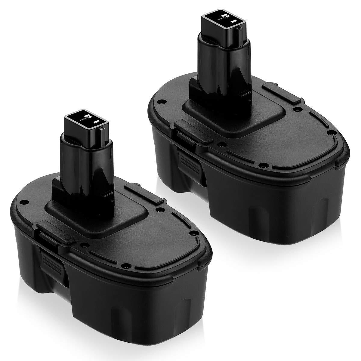 {Upgraded}18V 2Pack DC9096 DC9098 Replacement Battery for Dewalt 18 Volt XPR Battery DC9096 DC9098 DC9099 DW9095 DW9096 DW9098 DE9038 3700mAh Cordless Power Tools NI-MH
