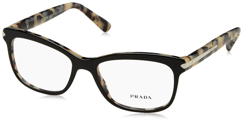 cb1ec62fbaeaf Prada Women s 10r Black   White Tortoise Frame Plastic Eyeglasses ...