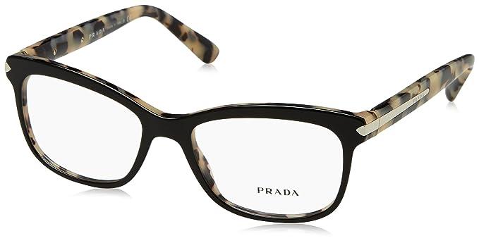 a1fee3ba640 Prada Women s 10r Black   White Tortoise Frame Plastic Eyeglasses ...