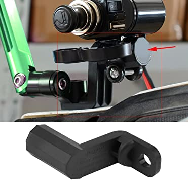 Motorcycle Multi-Function Expand Bracket Rearview Mirror Phone Charger Hol HIU