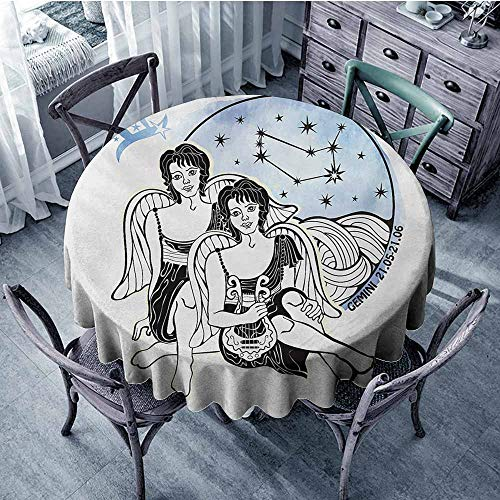 Zodiac Gemini,Wrinkle Free Tablecloths D 54