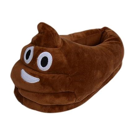 5b60ac9e8ea Cute Emoji Slippers Poop Slippers