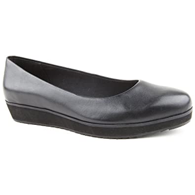 f6ef7aaf8 Ladies Clarks Compass Zone Lea Black Leather Ballerina Shoes Size 7 ...