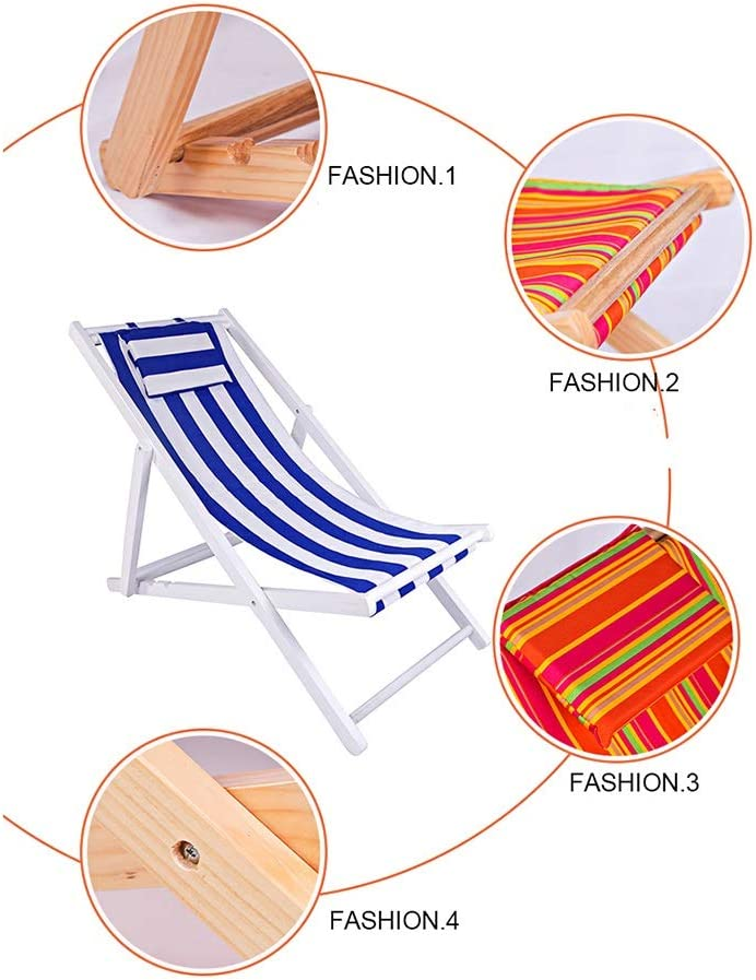 Y DWAYNE Beach Chair Folding Solid Wood Oxford Canvas Chair Zero Gravity Chair, Portable Lunch Break Wooden Lounge Chair, Set Of 2, S-104,Suitable For Couples (Color : B) C