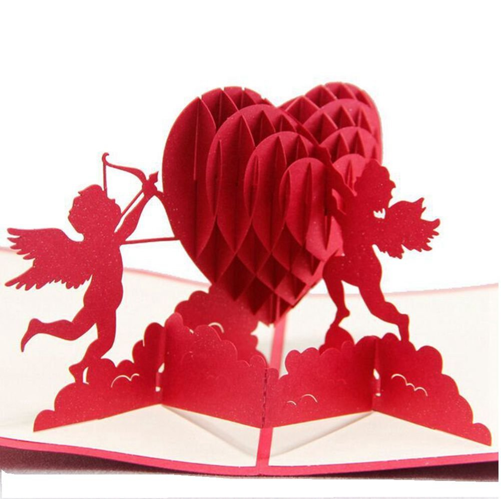 Handmade 3d Pop Up Greeting Cards For Couples Valentines Lovers