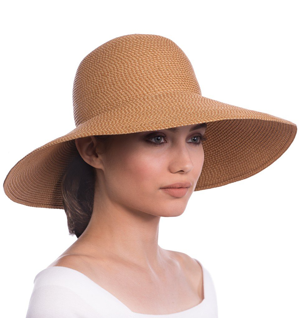 Eric Javits Luxury Fashion Designer Women's Headwear Hat - Bella - Natural