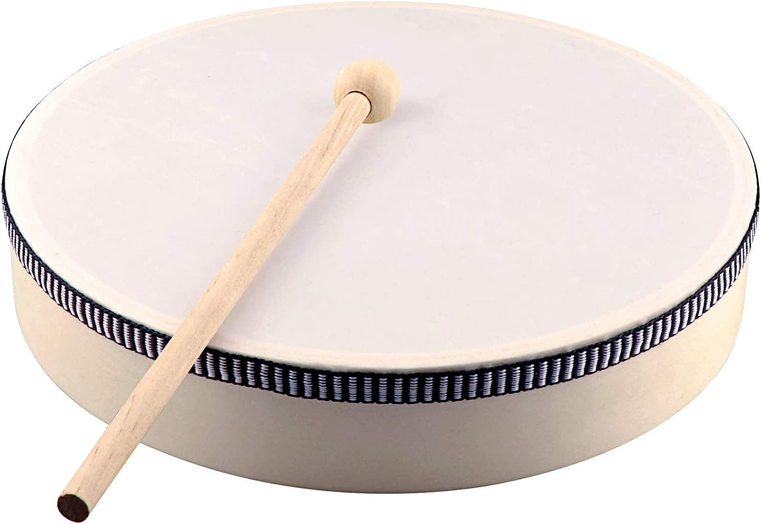 4inches Lanbowo Wooden Hand Drum Kids Percussion Toy Wood Frame Drum for Children Music Game