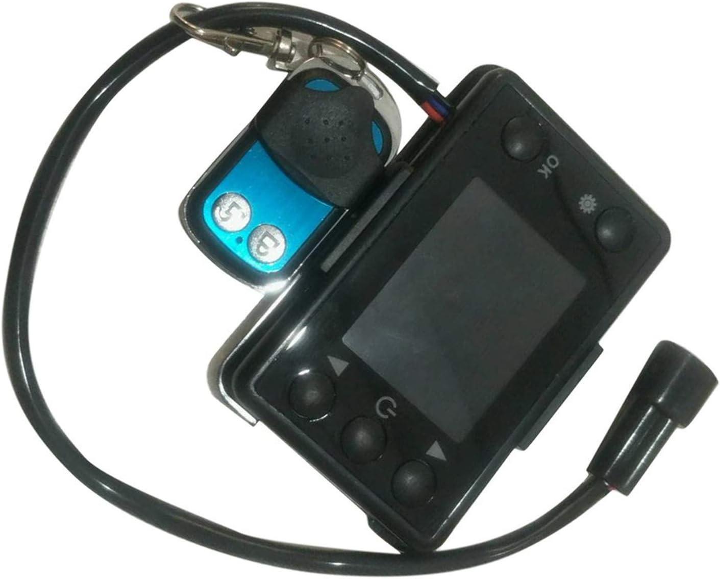 mit Fernbedienung FairytaleMM 12 V // 24 V 3 // 5KW LCD Monitor Standheizung Schalter Auto Heizung Ger/ät Controller Universal f/ür Auto Track Lufterhitzer schwarz