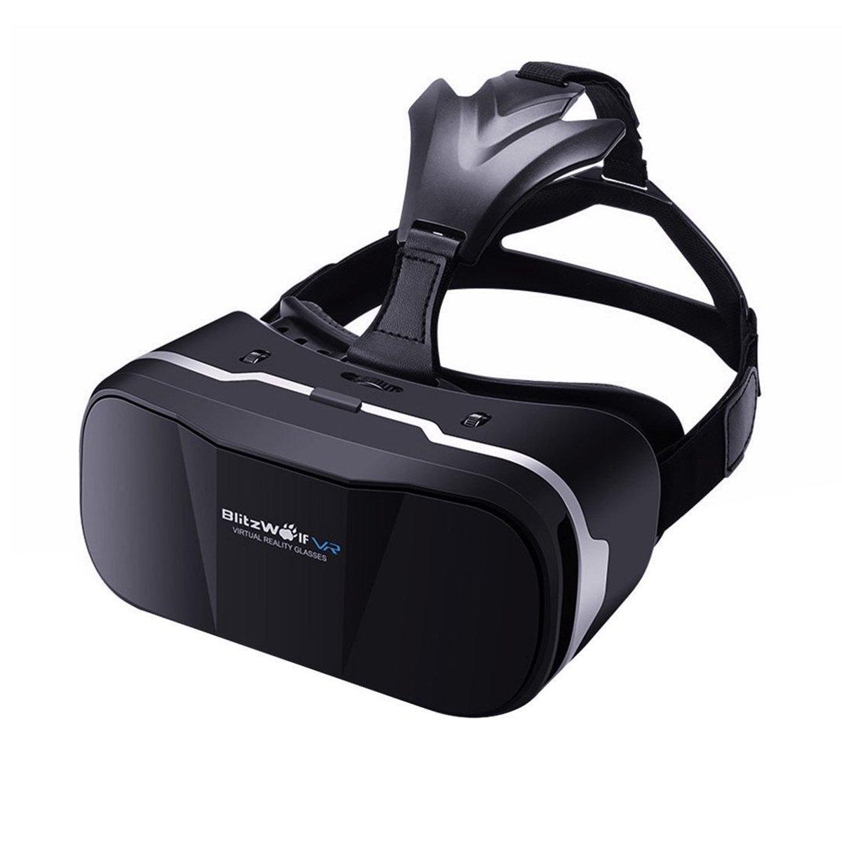 BlitzWolf Occhiali 3D Virtuali VR, 3D Occhiali da Realtà Virtuale per Godere Giochi/Film Compatibile per iPhone, Samsung, LG, SONY ed Altri Smartphone Android di 4,7-6 Pollici BW-VR3