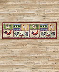 Amazon Com 54 Quot Country Farmhouse Barn Rooster Kitchen