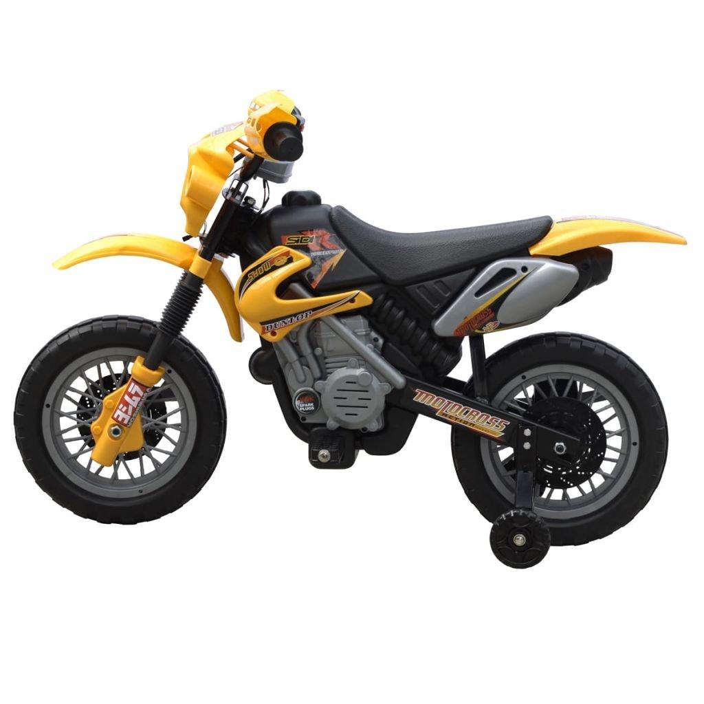 Tidyard Kinder Motorrad Elektromotorrad 2 km h Akku Kindermotorrad Kindermotorrad Kindermotorrad Kinderfahrzeug für Kinder ab 3 Jahren(Motorrad Gelb 0e7569
