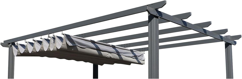 OUTFLEXX – Techo de Repuesto Pergola, Antracita, poliéster, Impermeable, 400 x 300 cm: Amazon.es: Jardín