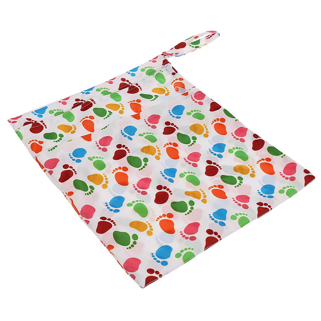 MonkeyJack Washable Reusable Cloth Nappy Wet Bag / Waterproof Swim Sport Travel Carry bag - Style 7