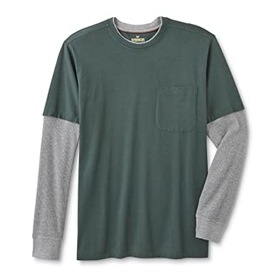 buying cheap uk store best selection of Amazon.com: Outdoor Life Men's Long-Sleeve Pocket T-Shirt ...