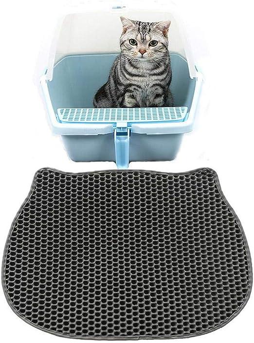 PETEMOO Arena para Gatos Estera,Doble Capa de Nido de Abeja |Proteja el Piso y la Alfombra Fácil de Limpiar | Bandeja para la Basura de Gatos: Amazon.es: Productos para mascotas