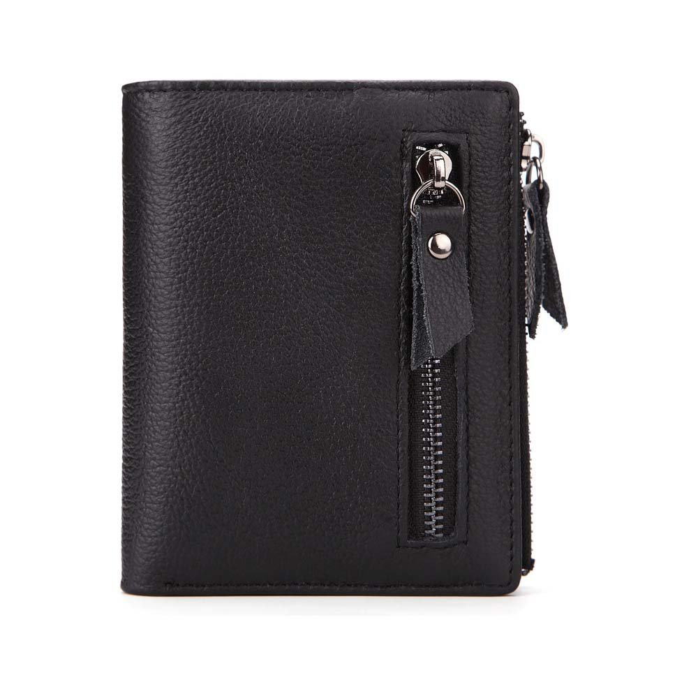 Vertical Wallet. Short Wallet Mens Wallet Vintage Wallet,Double Zipper Pocket