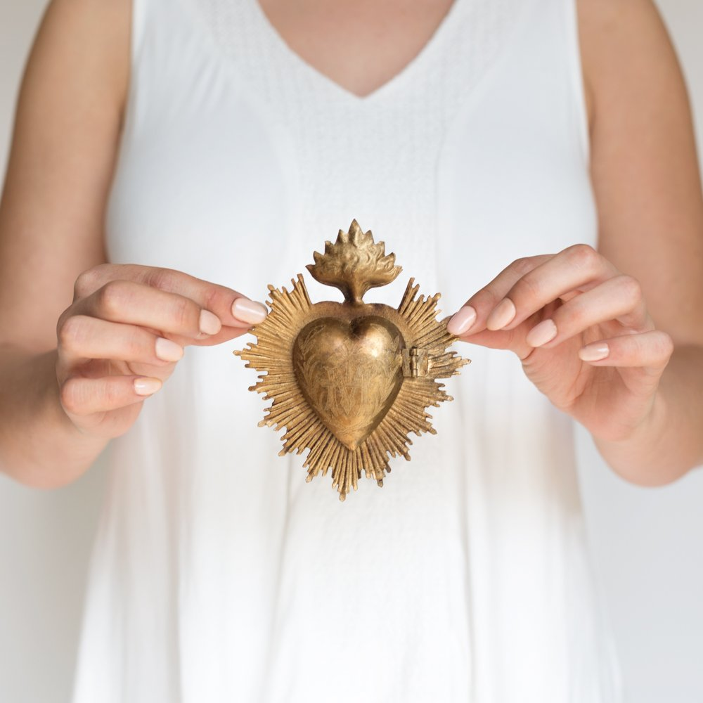 Gold sacred milagro heart box - Come discover Holiday Gift Guides from 7 of Your Favorite Bloggers!