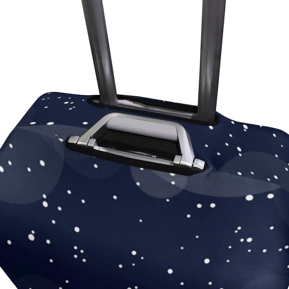 Cute 3D Merry Christmas With Dots Pattern Luggage Protector Travel Luggage Cover Trolley Case Protective Cover Fits 18-32 Inch