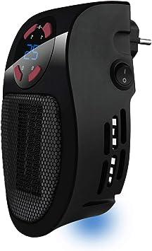Taurus Tropicano Plug Heater Mini cerámico portátil, Ligero y Compacto, Calefactor sin Cable, t...